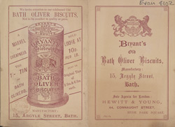 Bath Oliver Biscuits Advertisement, 1884